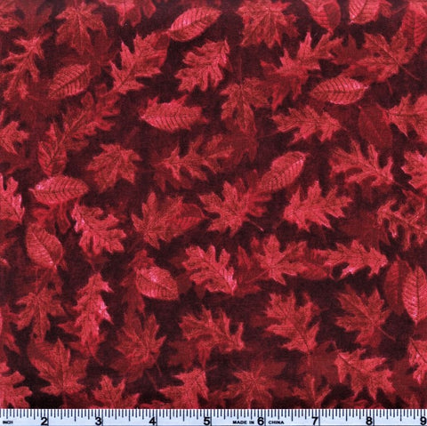 RJR Shades Of Autumn 2347 1 Red Leaves By The Yard
