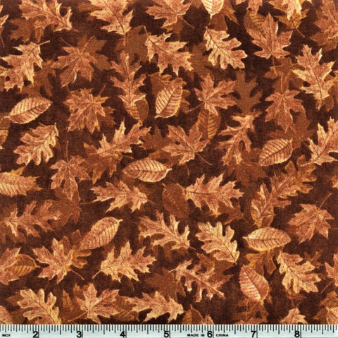 RJR Shades Of Autumn 2347 2 Tan Leaves By The Yard