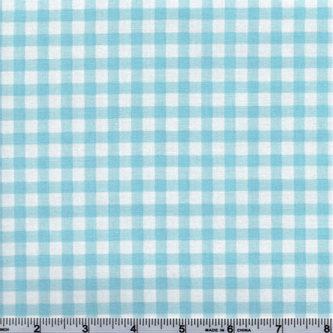 RJR Fabrics White Christmas 2353 3 Country Gingham Light Blue & White By The Yard