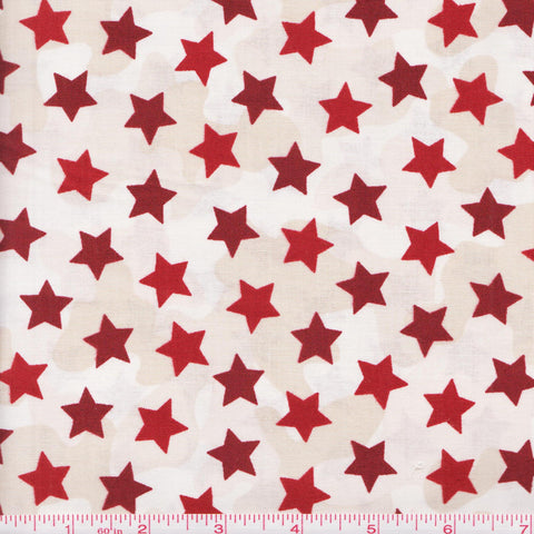 Quilting Treasures Be Strong, Be Brave 24083 R Stars on Camo by the yard