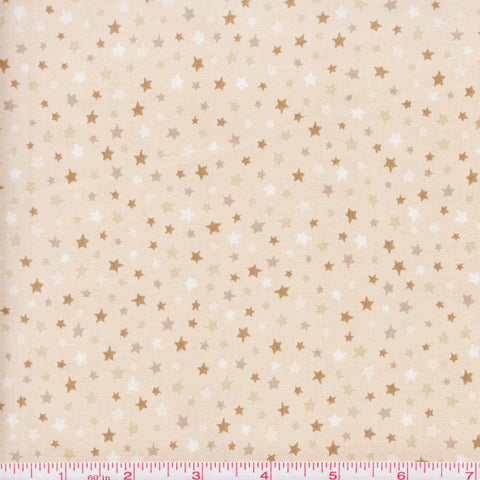 Quilting Treasures Be Strong Be Brave 24084 E Stars on Tan by the yard