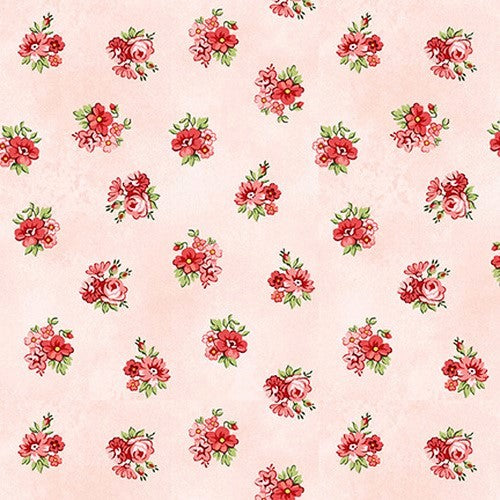 Henry Glass & Co. Violet's Garden 2409 22 Tearose Calico By The Yard
