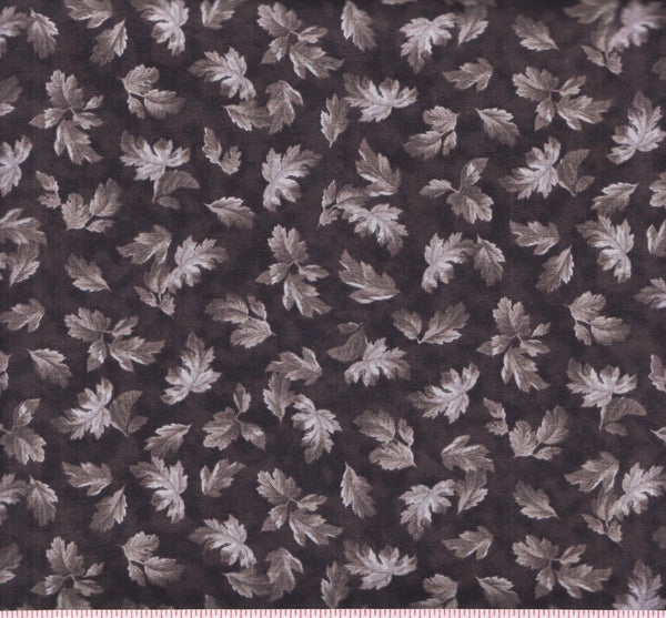 Quilting Treasures Hideaway 24233 K Deep Purple with Leaves by the yard