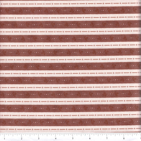 RJR Fabrics Katherine Ann 2444 3 Brown Ticking By The Yard