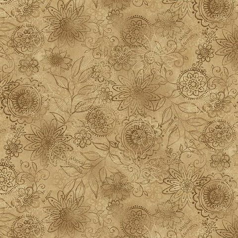 Henry Glass & Co. Best Of Days 2450 37 Cocoa Wall Flower By The Yard