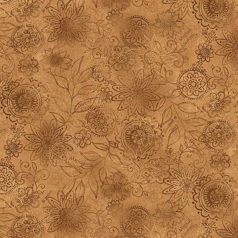Henry Glass & Co. Best Of Days 2450 44 Gold Wall Flower By The Yard