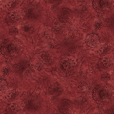 Henry Glass & Co. Best Of Days 2450 88 Red Wall Flower By The Yard