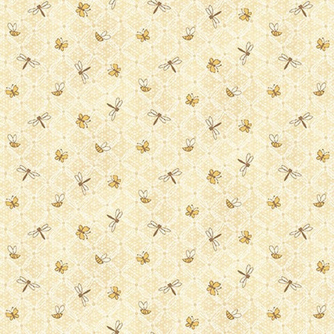 Henry Glass & Co. Best Of Days 2451 33 Cream Flower Lattice By The Yard