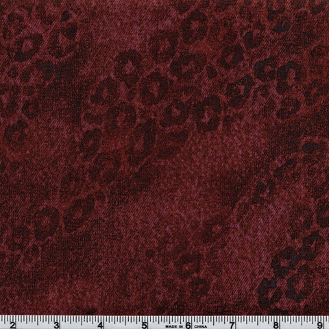 RJR Jinny Beyer Delhi 2451 3 Leopard Spot Print Berry Brown By The Yard