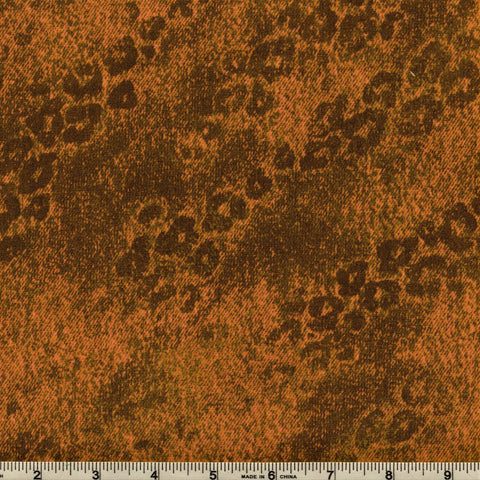 RJR Jinny Beyer Delhi 2451 4 Leopard Spot Print Brown & Orange By The Yard