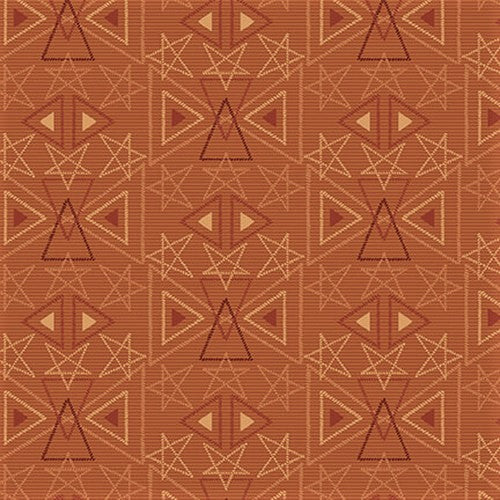 Henry Glass & Co. Best Of Days 2456 35 Rust Star Geo By The Yard