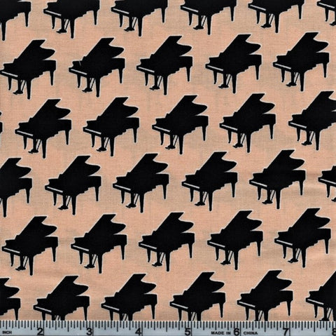 RJR Fabrics Perfect Pitch 2459 1 Pianos On Ivory By The Yard