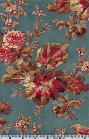 RJR Esprit Maison By Robyn Pandolph 2467 1 Flower Stalk On Blue By The Yard