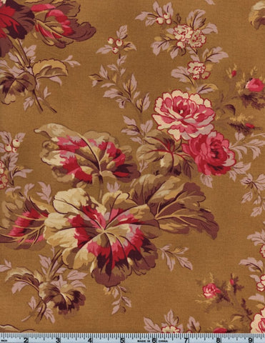 RJR Esprit Maison By Robyn Pandolph 2467 2 Flower Stalk On Olive By The Yard