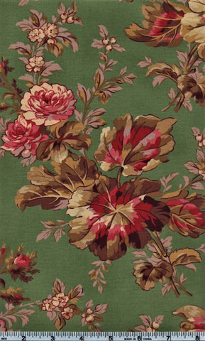 RJR Esprit Maison By Robyn Pandolph 2467 3 Flower Stalk On Green By The Yard