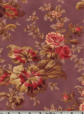 RJR Esprit Maison By Robyn Pandolph 2467 4 Flower Stalk On Purple By The Yard