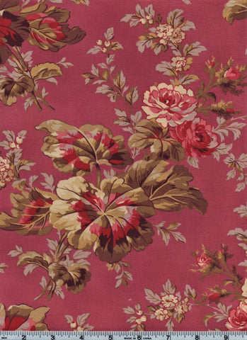 RJR Esprit Maison By Robyn Pandolph 2467 5 Flower Stalk On pink By The Yard
