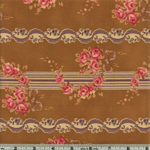 RJR Esprit Maison By Robyn Pandolph 2468 2 Olive Vintage Lined Flowers By The Yard