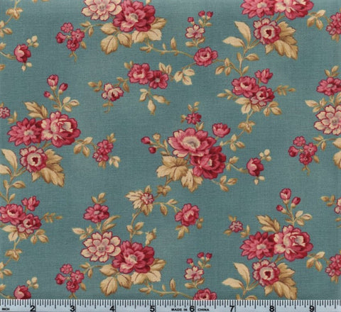 RJR Esprit Maison By Robyn Pandolph 2469 1 Blue Vintage Flowers By The Yard