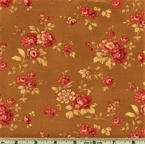 RJR Esprit Maison By Robyn Pandolph 2469 2 Mustard Vintage Flowers By The Yard