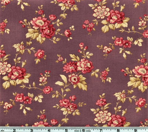 RJR Esprit Maison By Robyn Pandolph 2469 4 Purple Vintage Flowers By The Yard