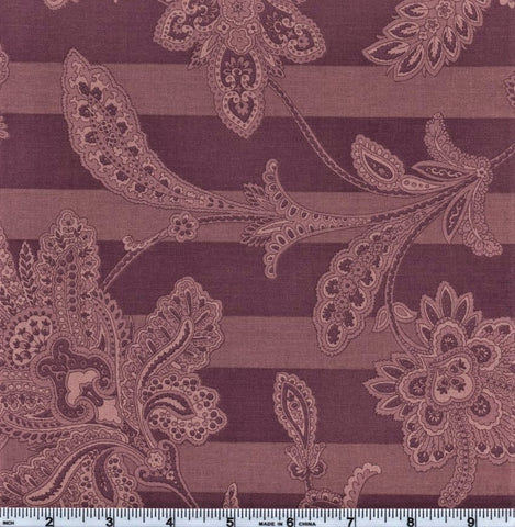RJR Esprit Maison By Robyn Pandolph 2470 4 Purple Lined Flowers By The Yard