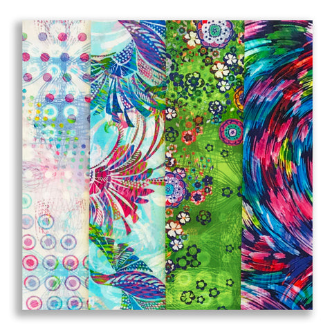 RJR Pre-cut 24 Block Rail Fence Quilt Kit - Starlight & Splendor