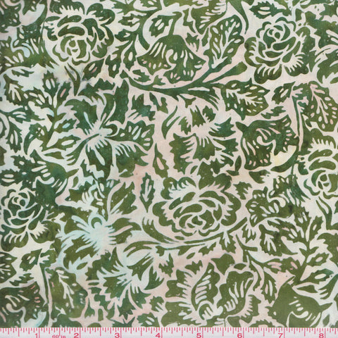 Hoffman Bali Batik 2580 77 Sage Green Roses By The Yard