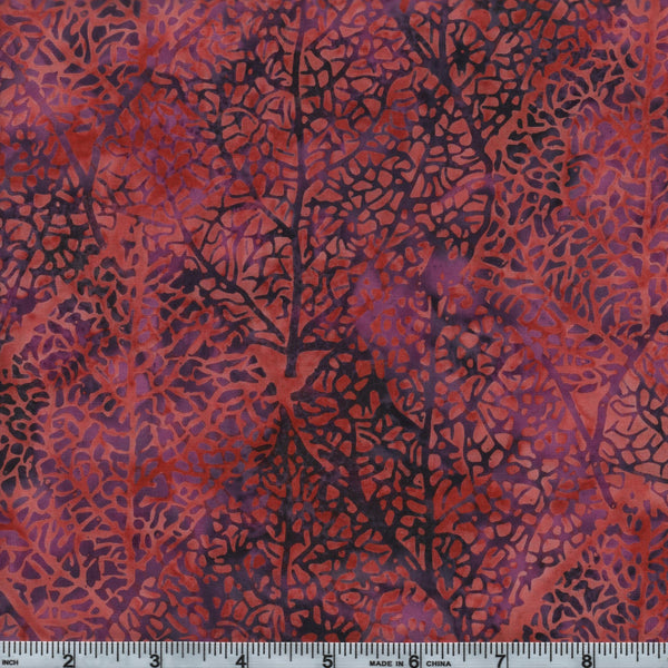 Hoffman Bali Batik 2614 100 Adobe Purple Leaves By The Yard
