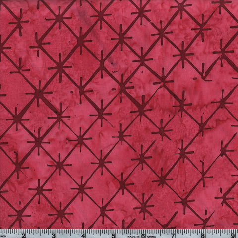 Hoffman Bali Batik 2625 568 Red Velvet Abstract Stars By The Yard