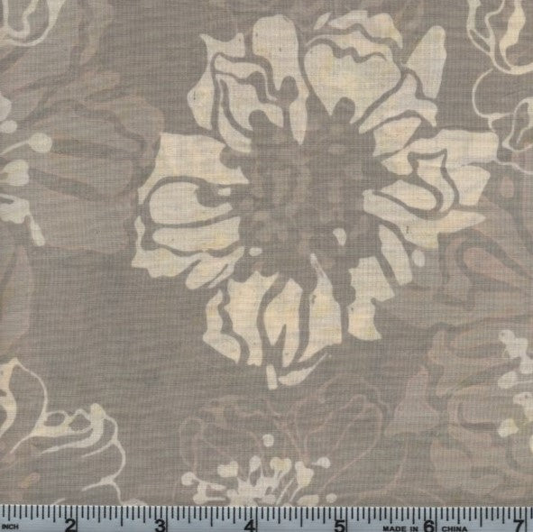 Hoffman Fabrics Bali Batiks 2639 20 Natural Big Flowers By The Yard