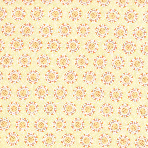 RJR Fabrics Chirp 2644 2 Light Yellow Sun Bursts by the yard