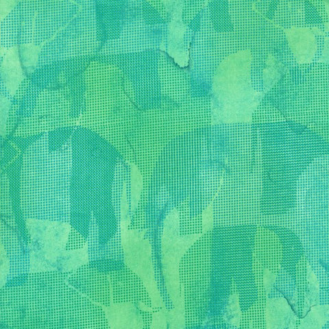 RJR Fabrics Jinny Beyer Safari 2661 003 Teal Abstract Elephants By The Yard