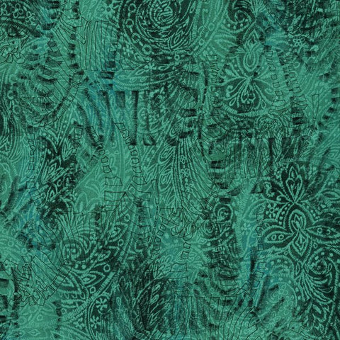 RJR Fabrics Jinny Beyer Safari 2663 004 Abstract Zebras On Teal By The Yard