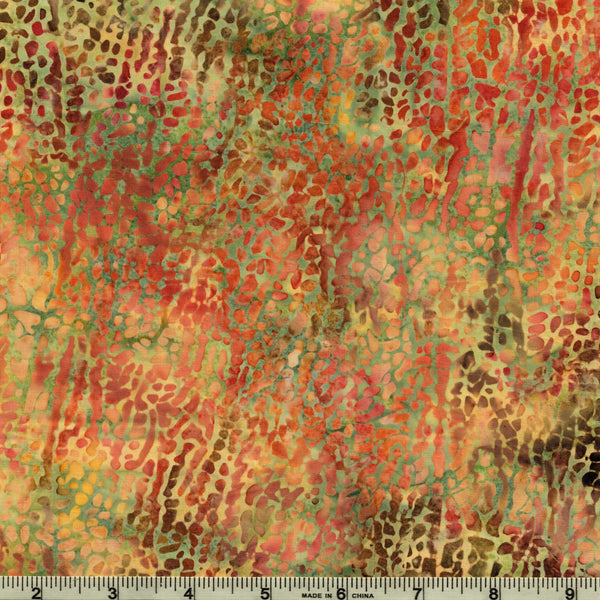 Hoffman Bali Batik 2663 488 Sand Castle Autumn Abstract Sand By The Yard