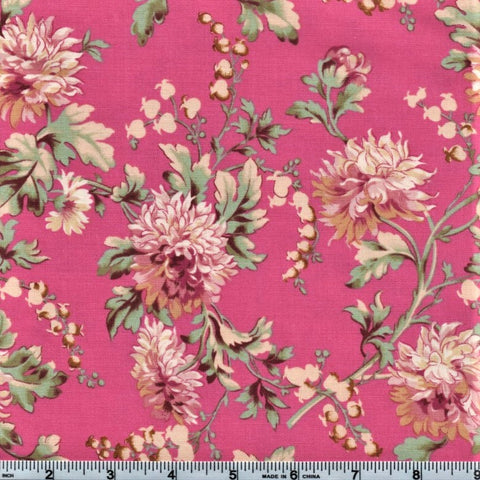 RJR Marseille By Robyn Pandolph 2668 1 Peonies On Pink By The Yard