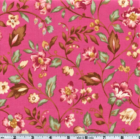 RJR Marseille By Robyn Pandolph 2669 1 Assorted Flowers On Pink By The Yard