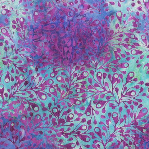 Anthology Bali Batiks 268Q 2 Purple Spores By The Yard