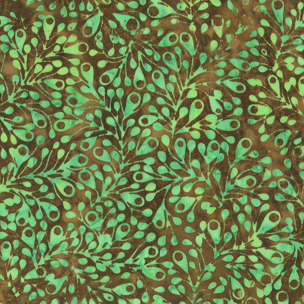 Anthology Bali Batiks 268Q 4 Sea Green Spores By The Yard