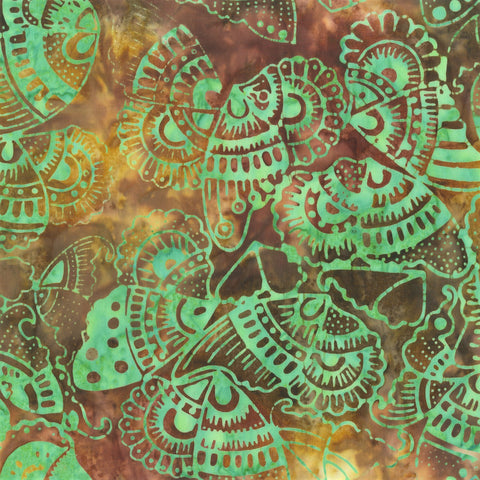 Anthology Bali Batiks 269Q 6 Twist Tribal Butterflies By The Yard