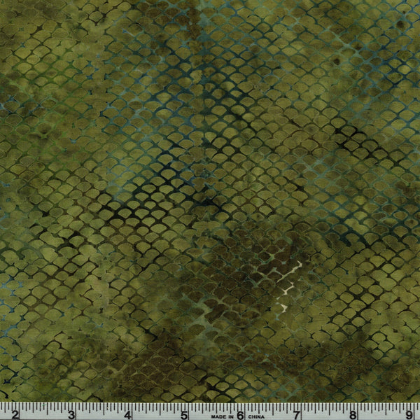 Hoffman Bali Batik 2716 96 Olive Texture Scales By The Yard