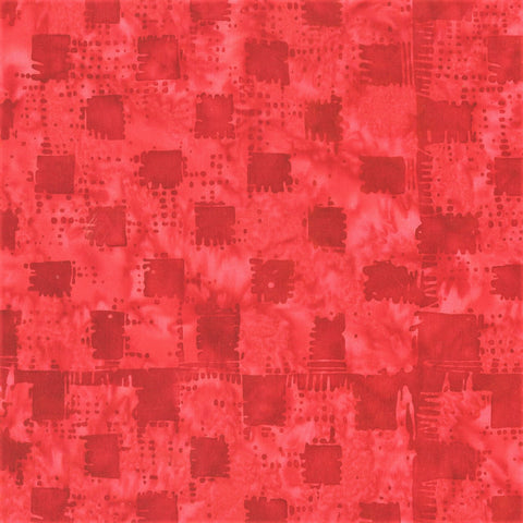 Anthology Bali Batiks 272Q 3 Heart Checker Board By The Yard