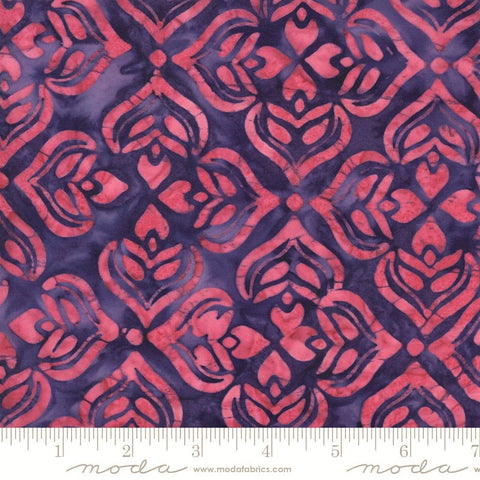 Moda Confection Batiks 27310 128 Currant Strawberry Larkspur By The Yard