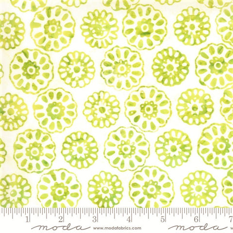 Moda Confection Batiks 27310 88 Lime Daisy By The Yard