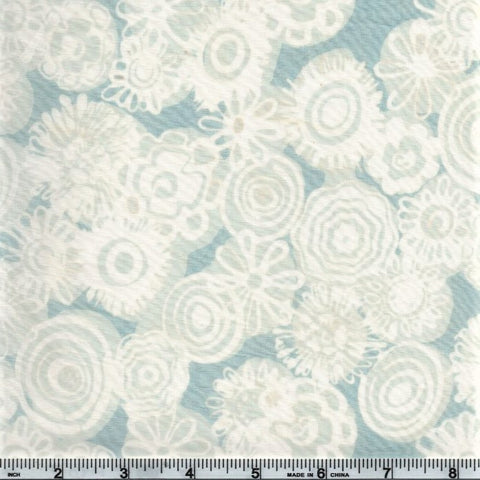Hoffman Batik Open Waters 2736 113 Frost 70s Floral By The Yard