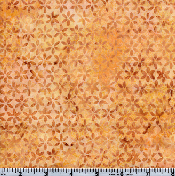 Hoffman Bali Batik 2750 777 Golden Yellow Tiny Floral By The Yard