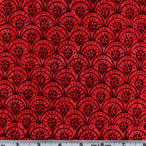Hoffman Bali Batik 2761 187 Mayan Floral Acrhes By The Yard