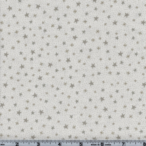 RJR Fabrics Holiday Festive Fun 2781 2 Small Stars On White By The Yard