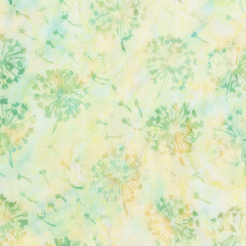 Anthology Bali Batiks 279Q 2 Parakeet Dandelion By The Yard
