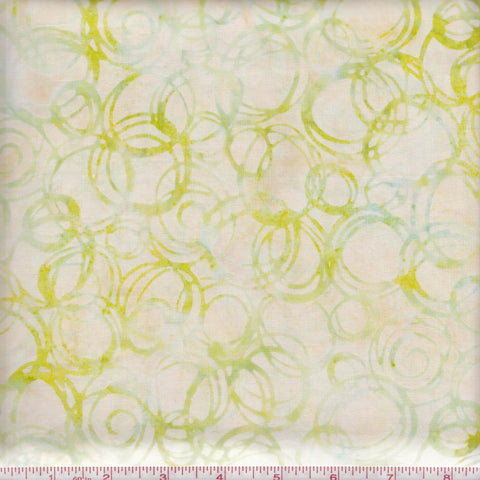 Hoffman Bali Batik 2801 9 Yellow Abstract Circles By The Yard